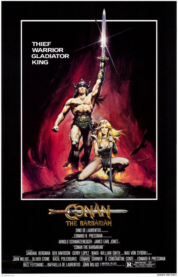 Conan the Barbarian, poster, 1982, podcast