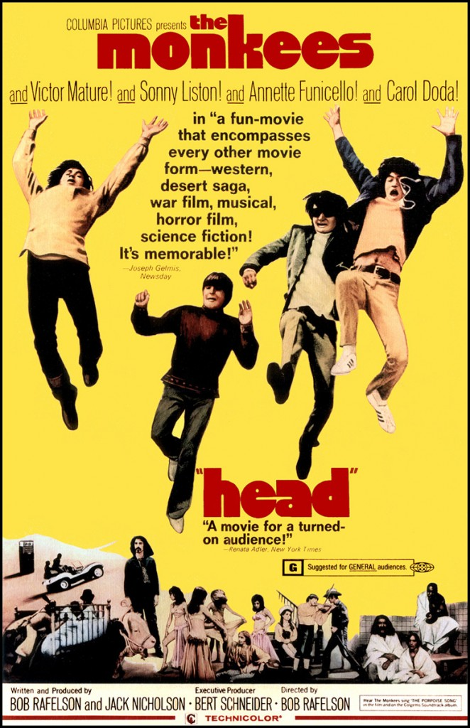Head Movie 1968 Poster The Monkees