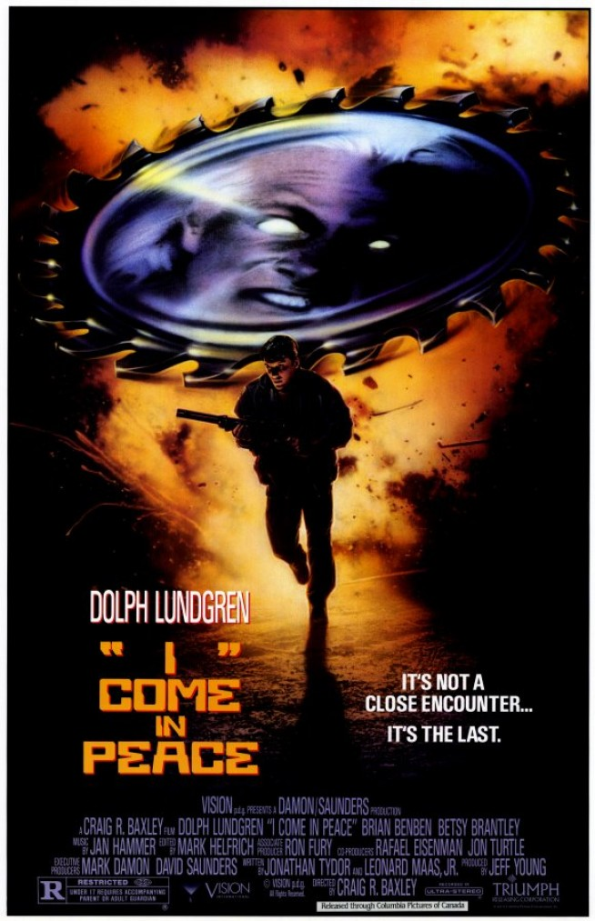 I Come In Peace / Dark Angel 1990 Movie Poster