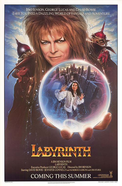 Labyrinth Poster Coming Soon Jim Henson David Bowie 1986